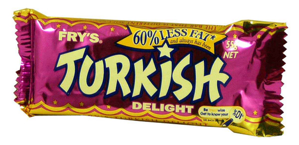 Fry s Turkish Delight, by Frys/Other,  and more Confectionery at The Professors Online Lolly Shop. (Image Number :4810)