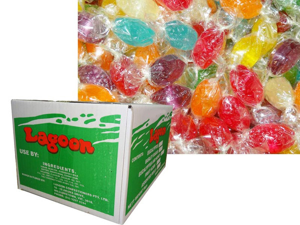 Acid Drops Box - Mixed Colours, by Lagoon Confectionery,  and more Confectionery at The Professors Online Lolly Shop. (Image Number :6097)