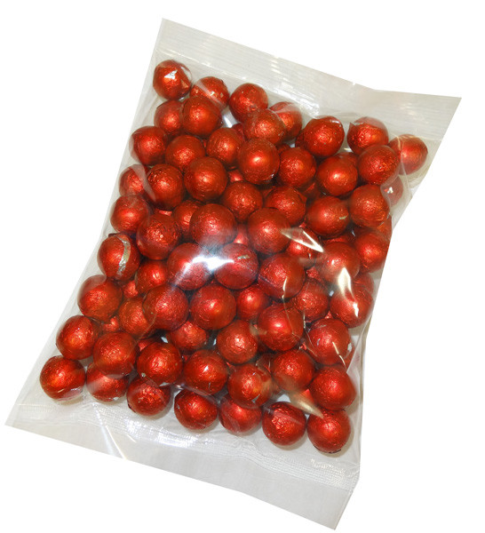 Foiled Milk Choc Red Balls, by Confectionery Trading Company/Niagara,  and more Confectionery at The Professors Online Lolly Shop. (Image Number :5108)