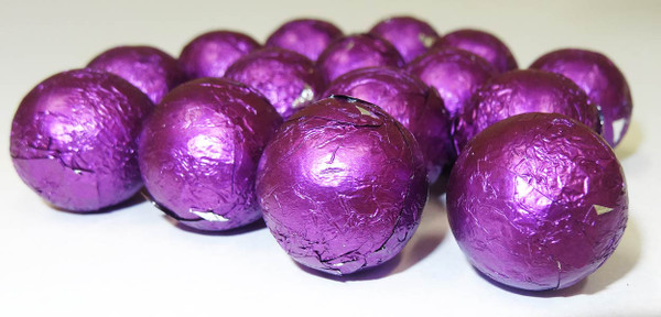 Foiled Milk Choc Purple Balls, by Confectionery Trading Company/Niagara,  and more Confectionery at The Professors Online Lolly Shop. (Image Number :5109)