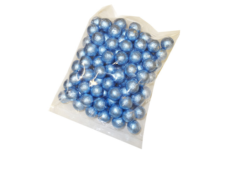 Foiled Milk Choc Pastel Blue Balls, by Confectionery Trading Company/Niagara,  and more Confectionery at The Professors Online Lolly Shop. (Image Number :5207)
