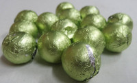 Foiled Milk Choc Leaf Green Balls, by Confectionery Trading Company/Niagara,  and more Confectionery at The Professors Online Lolly Shop. (Image Number :5022)