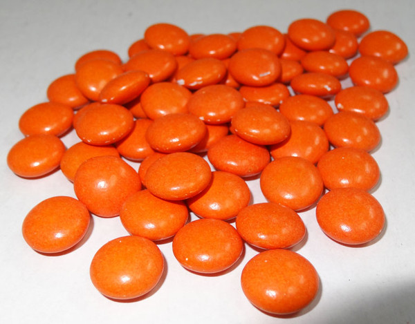 Candy Buffet Buttons - Orange, by The Professors Tasty Technology,  and more Confectionery at The Professors Online Lolly Shop. (Image Number :4970)