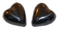 Chocolate Gems - Chocolate Hearts - Black Foil, by Chocolate Gems,  and more Confectionery at The Professors Online Lolly Shop. (Image Number :5088)