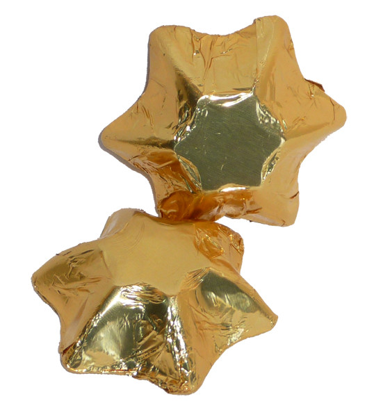 Chocolate Gems - Chocolate Stars - Gold Foil, by Chocolate Gems,  and more Confectionery at The Professors Online Lolly Shop. (Image Number :5133)