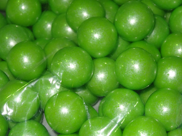 Gumballs - Shimmer Lime Green, by Oak Leaf Confections,  and more Confectionery at The Professors Online Lolly Shop. (Image Number :5171)