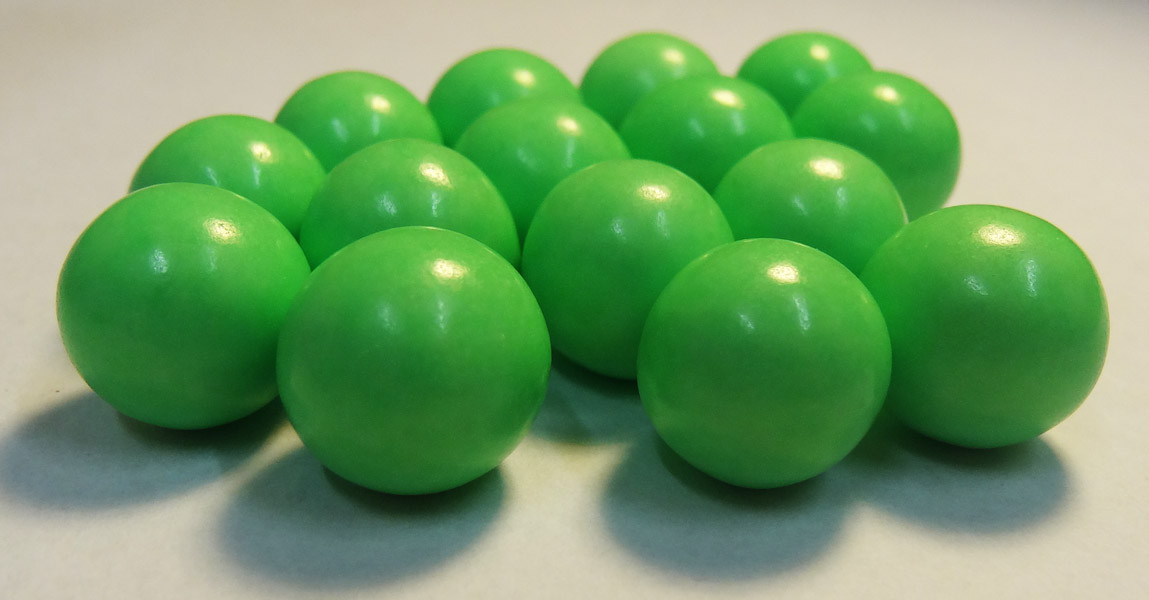 Fruit Choc Balls - Lime Green, by Confectionery House,  and more Confectionery at The Professors Online Lolly Shop. (Image Number :5230)