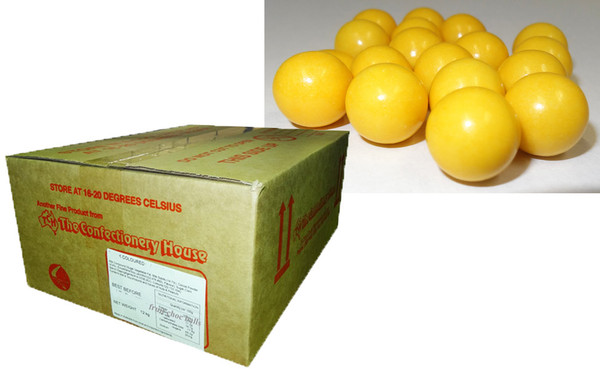 Fruit Choc Balls - Lemon Yellow, by Confectionery House,  and more Confectionery at The Professors Online Lolly Shop. (Image Number :9497)