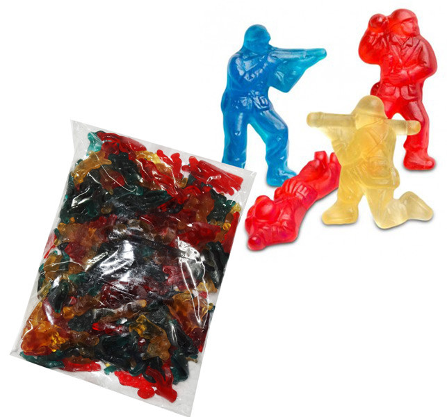 Gummi Military Heroes, by Albanese Confectionery/Other,  and more Confectionery at The Professors Online Lolly Shop. (Image Number :7280)