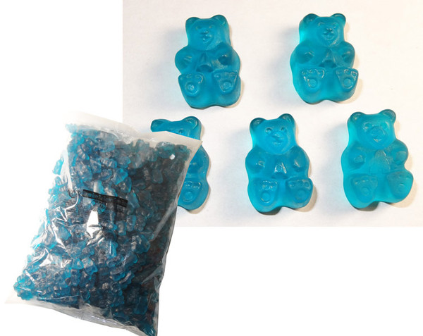 Bulk Gummi Bears Rockin  Blue Raspberry, by Albanese Confectionery/Other,  and more Confectionery at The Professors Online Lolly Shop. (Image Number :6167)