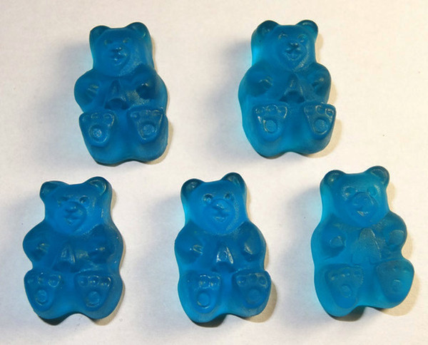 Albanese Gummi Bears Rockin  Blue Raspberry, by Albanese Confectionery/Other,  and more Confectionery at The Professors Online Lolly Shop. (Image Number :7636)