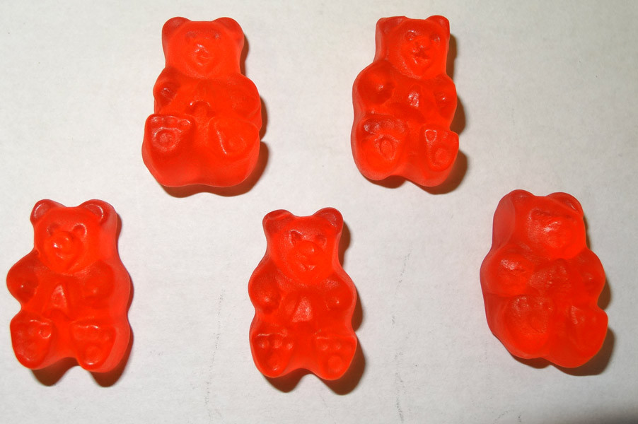 Gummi Bears Fresh Strawberry, by Albanese Confectionery/Other,  and more Confectionery at The Professors Online Lolly Shop. (Image Number :5354)