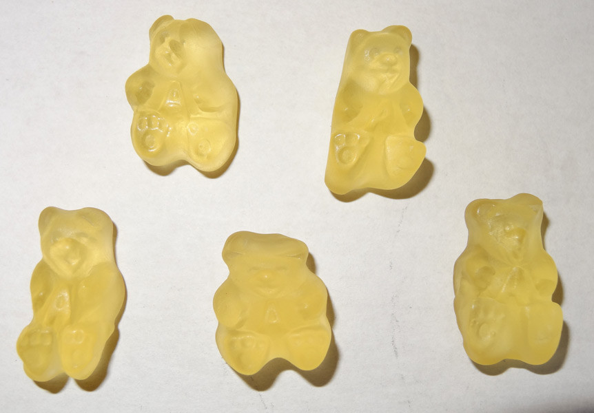 Gummi Bears Poppin  Pineapple, by Albanese Confectionery/Other,  and more Confectionery at The Professors Online Lolly Shop. (Image Number :5352)
