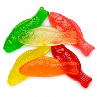 Gummi Fish Assorted Fruit, by Albanese Confectionery,  and more Confectionery at The Professors Online Lolly Shop. (Image Number :7302)