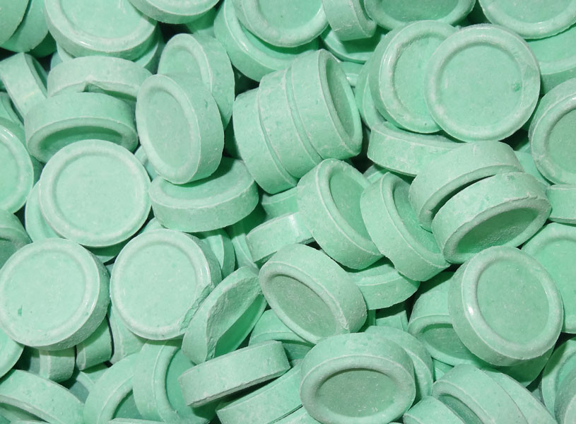Spearmint Discs, by Candy Brokers/Dollar Sweets,  and more Confectionery at The Professors Online Lolly Shop. (Image Number :5429)