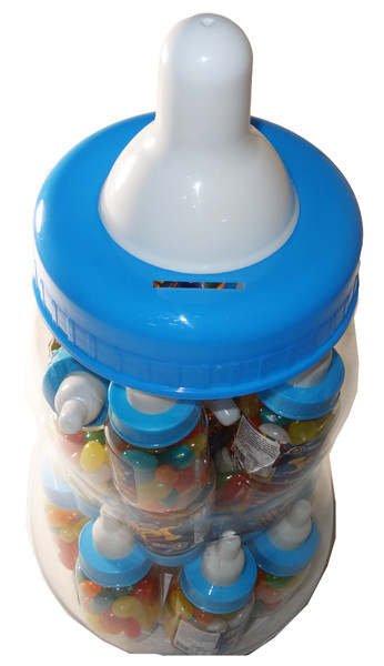 Baby Bottle Jelly Beans - Blue - Assorted Colour Jelly Beans, by Universal Candy,  and more Confectionery at The Professors Online Lolly Shop. (Image Number :6061)
