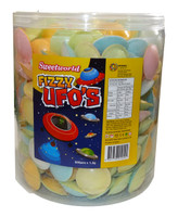 Sweetworld Fizzy UFO s, by AllFect Distributors/Sweetworld/Universal Candy,  and more Confectionery at The Professors Online Lolly Shop. (Image Number :5402)
