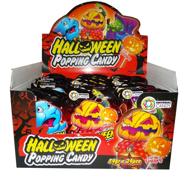 Halloween Popping Candy, by Universal Candy,  and more Confectionery at The Professors Online Lolly Shop. (Image Number :6652)