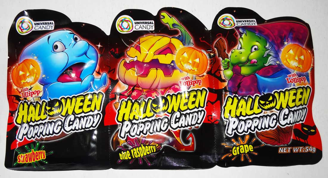 Halloween Popping Candy, by Universal Candy,  and more Confectionery at The Professors Online Lolly Shop. (Image Number :6653)