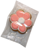 Gingerbread Cookie - Flower - Pink and White, by Krimpis,  and more Snack Foods at The Professors Online Lolly Shop. (Image Number :5373)