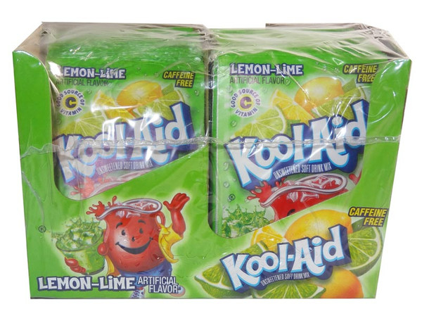 Kool Aid Pack  - Lemon Lime, by Kool Aid,  and more Beverages at The Professors Online Lolly Shop. (Image Number :6492)