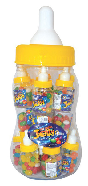 Baby Bottle Jelly Beans - Yellow - Assorted Colour Jelly Beans, by Universal Candy,  and more Confectionery at The Professors Online Lolly Shop. (Image Number :7369)
