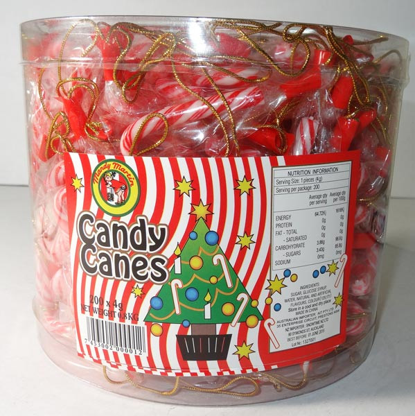 Mandy Martin - Mini Candy Cane Jar, by AIT Confectionery,  and more Confectionery at The Professors Online Lolly Shop. (Image Number :5487)