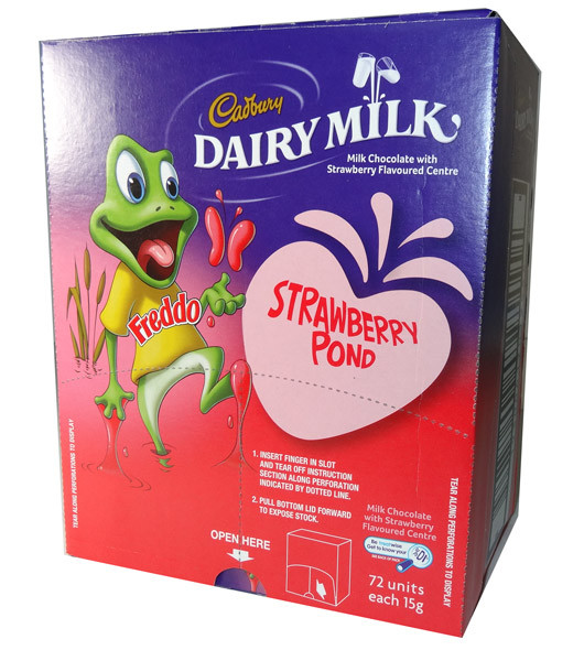 Cadbury Freddo Frog Strawberry Pond, by Cadbury,  and more Confectionery at The Professors Online Lolly Shop. (Image Number :5903)