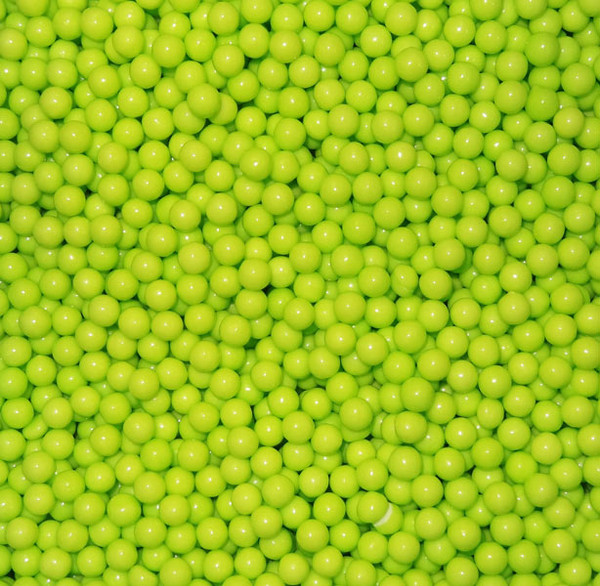 Pearls - Lime Green, by Oak Leaf Confections,  and more Confectionery at The Professors Online Lolly Shop. (Image Number :5498)