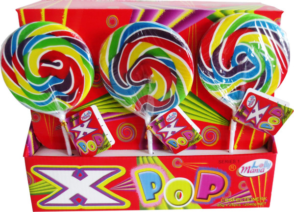 Lolly Mania X-Pops - Series 1 - Rainbow, by Lolly Mania/Other,  and more Confectionery at The Professors Online Lolly Shop. (Image Number :5922)