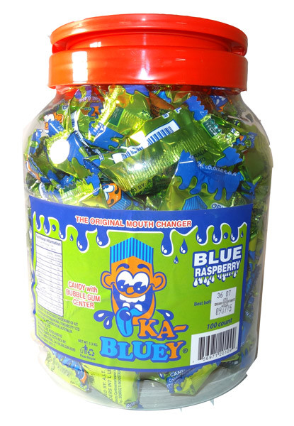 Ka-Bluey Candy with Bubble Gum Centres, by AIT Confectionery,  and more Confectionery at The Professors Online Lolly Shop. (Image Number :5535)