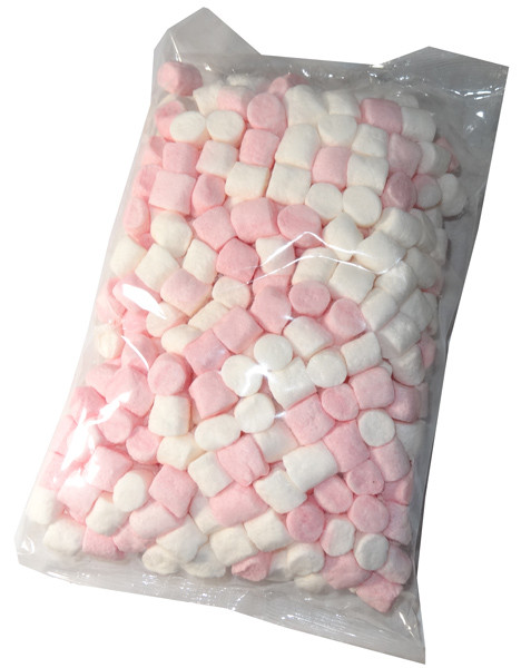Betta Mini Marshmallows Pink and White, by Betta Foods,  and more Confectionery at The Professors Online Lolly Shop. (Image Number :5908)