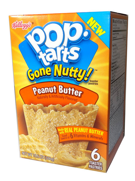 Kelloggs Pop Tarts - Gone Nutty -  Peanut Butter, by Kelloggs Pop Tarts,  and more Snack Foods at The Professors Online Lolly Shop. (Image Number :5849)
