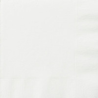 Luncheon Napkins - White, by Meteor,  and more Partyware at The Professors Online Lolly Shop. (Image Number :5805)
