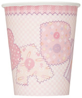 Paper Cups - Baby Pink Stitching, by Meteor,  and more Partyware at The Professors Online Lolly Shop. (Image Number :5703)