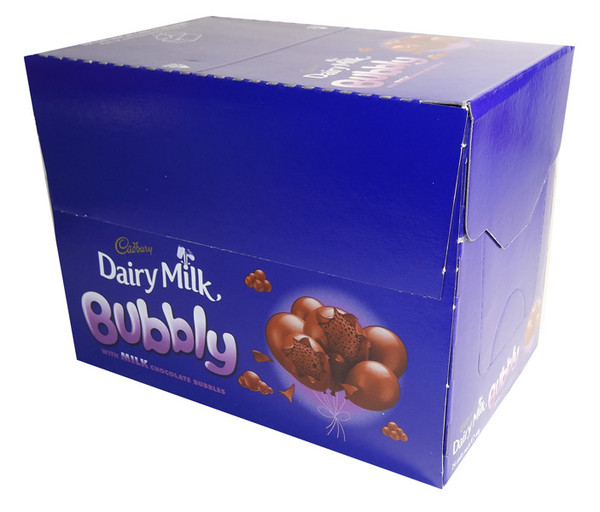 Cadbury Dairy Milk Bubbly with Milk Chocolate Bubbles, by Cadbury/Nestle,  and more Confectionery at The Professors Online Lolly Shop. (Image Number :7087)