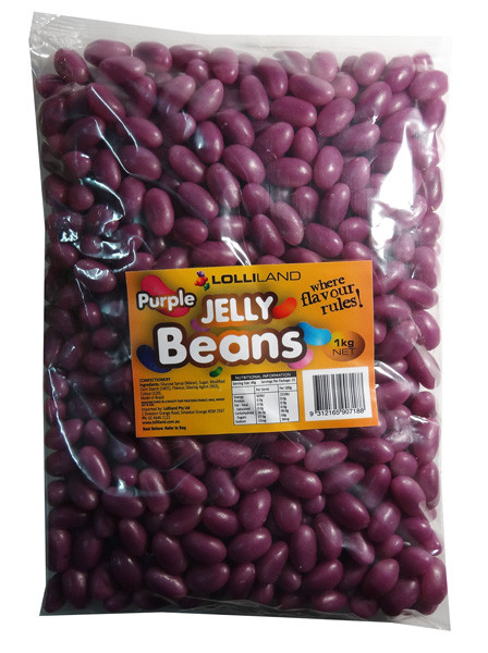 Lolliland Jelly Beans - Purple, by Lolliland,  and more Confectionery at The Professors Online Lolly Shop. (Image Number :7917)