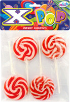 Lolly Mania X-Pops - Red - Cherry Flavour, by Lolly Mania/Other,  and more Confectionery at The Professors Online Lolly Shop. (Image Number :5854)
