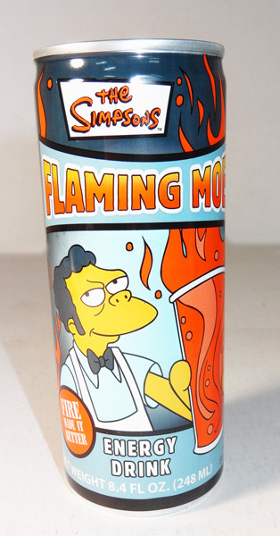 The Simpsons Flaming Moe Energy Drink and more Beverages at The Professors Online Lolly Shop. (Image Number :5898)
