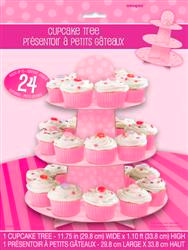 Dots Cupcake Tree - Pink, by Meteor,  and more Partyware at The Professors Online Lolly Shop. (Image Number :5943)
