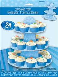 Dots Cupcake Tree - Blue, by Meteor,  and more Partyware at The Professors Online Lolly Shop. (Image Number :5953)