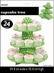 Dots Cupcake Tree - Lime Green, by Meteor,  and more Partyware at The Professors Online Lolly Shop. (Image Number :5959)