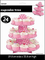 Dots Cupcake Tree - Hot Pink, by Meteor,  and more Partyware at The Professors Online Lolly Shop. (Image Number :5961)