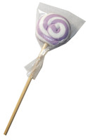 Round Lilac and White Lollipop, by Designer Candy,  and more Confectionery at The Professors Online Lolly Shop. (Image Number :6117)