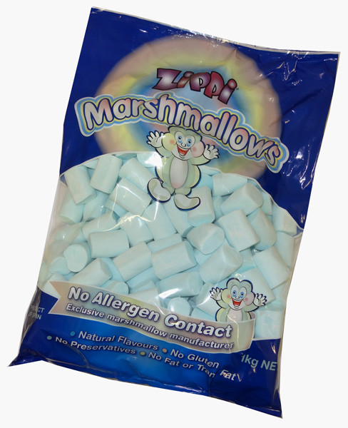 Zippi Marshmallows - Blue, by Zippi,  and more Confectionery at The Professors Online Lolly Shop. (Image Number :6251)