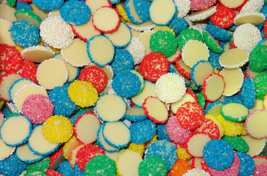 Custom Choc - Assorted Coloured Milky Buds, by Custom Choc,  and more Confectionery at The Professors Online Lolly Shop. (Image Number :6269)