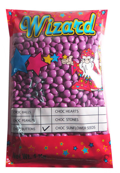 Wizard Choc Buttons - Purple, by Wizard,  and more Confectionery at The Professors Online Lolly Shop. (Image Number :8189)