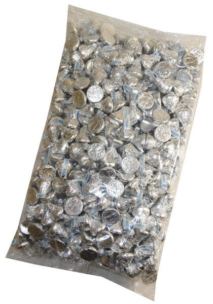 Clear Bag - Hersheys Kisses 67oz, by Hersheys,  and more Confectionery at The Professors Online Lolly Shop. (Image Number :6276)