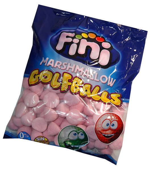Fini Marshmallow Golfballs - Pink, by Fini,  and more Confectionery at The Professors Online Lolly Shop. (Image Number :6714)