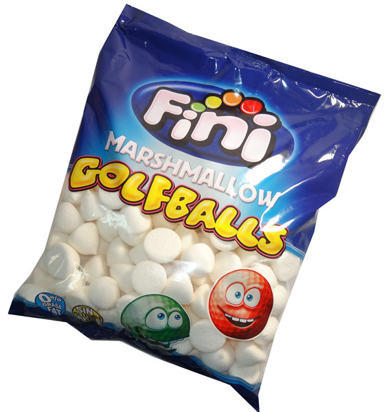 Fini Marshmallow Golfballs - White, by Fini,  and more Confectionery at The Professors Online Lolly Shop. (Image Number :6355)